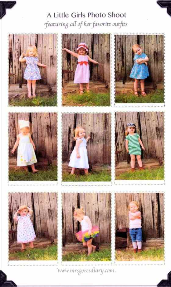 a little girl's photo shoot featuring all of her favorite dresses - so fun!!