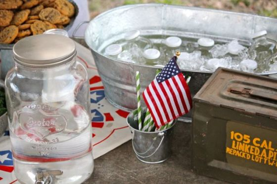 "Everything you need to know about throwing a vintage ""army"" or ""war"" party for a little boy - products, ideas, menu, playlist - its all here!"