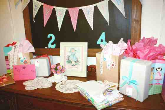 gift table with gifts