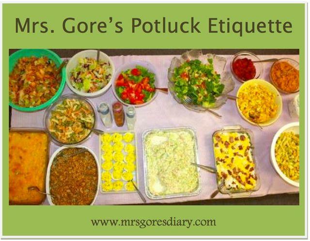 mrs gore s potluck etiquette