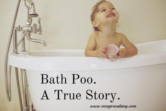 When babies poop in the bathtub...